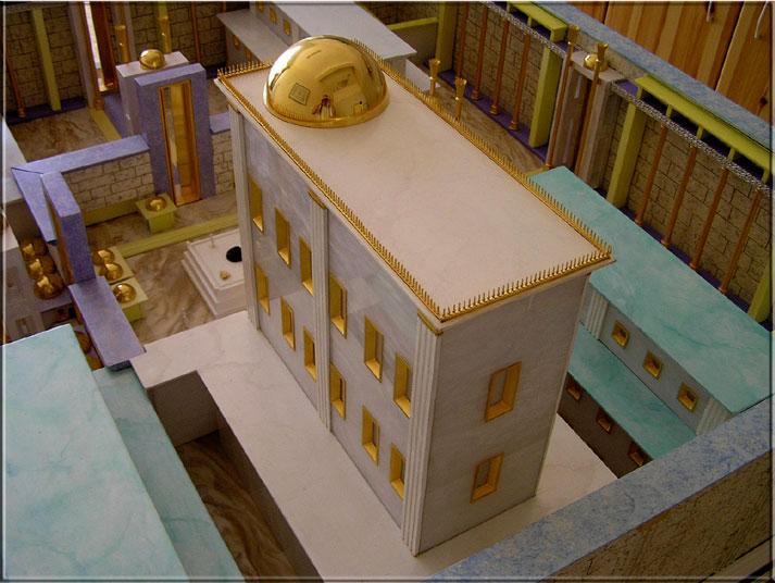 Acoperisul Templului din perspectiva nordica