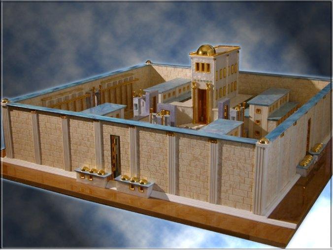 Modelul celui de al treilea Templu, vszut din perspectiva nord-estica