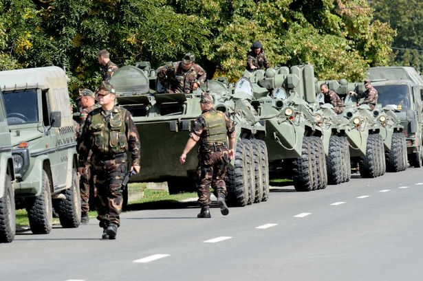 A-convoy-of-Hungarian-APCs