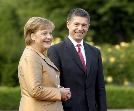 Bundeskanzlerin Angela Merkel und ihr Ehemann Joachim Sauer auf Gut Hohen Luckow .